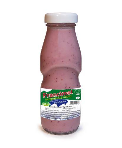 Probiotický jogurtový nápoj Francimel borůvka - 200 ml
