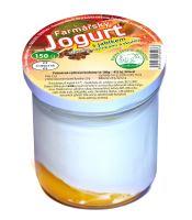 Farmářský jogurt s jablky, hrozinky, skořicí - 150g